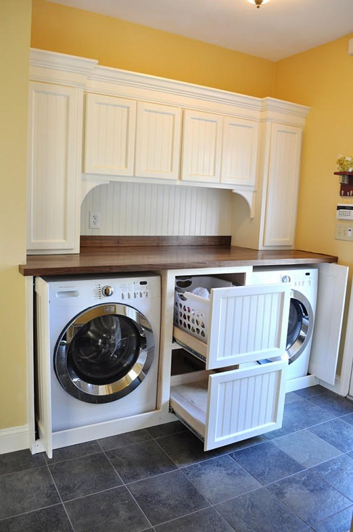 Laundry room ideas for baskets cabinets and racks - Laundry room cabinet ideas ...