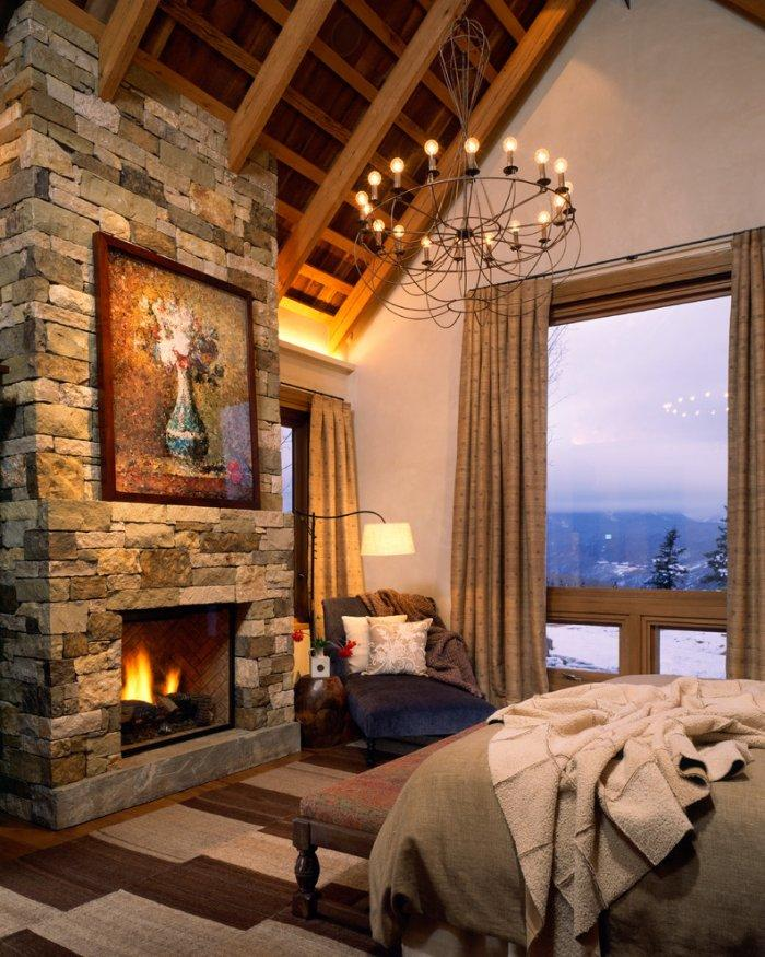 Small Bedroom Fireplace 1 In A Mountain Getaway