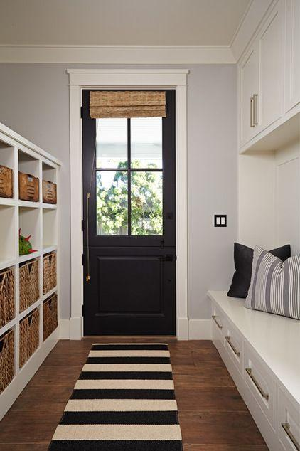 Small black hallway door - connecting the inside and outdoor parts