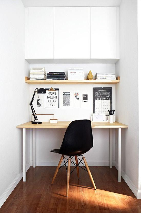 Small computer desk - with modern chair