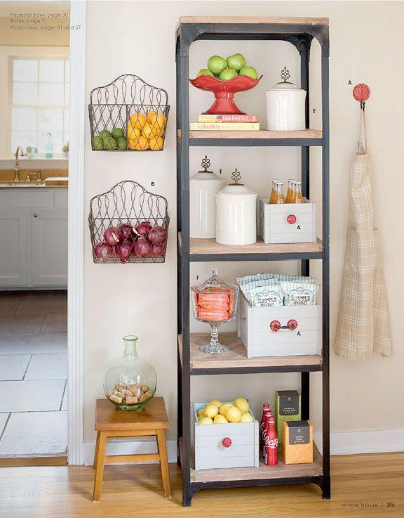 Shelf Designs For Small Spaces Part - 26: Small Storage Shelf Idea - With Kitchenware