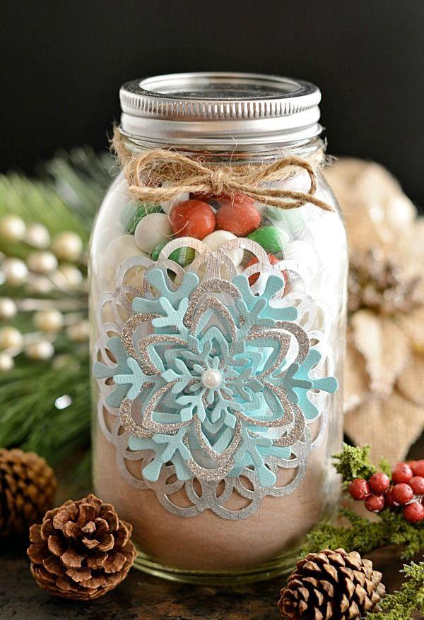 Snowflake Christmas jar - with creative paper decorations