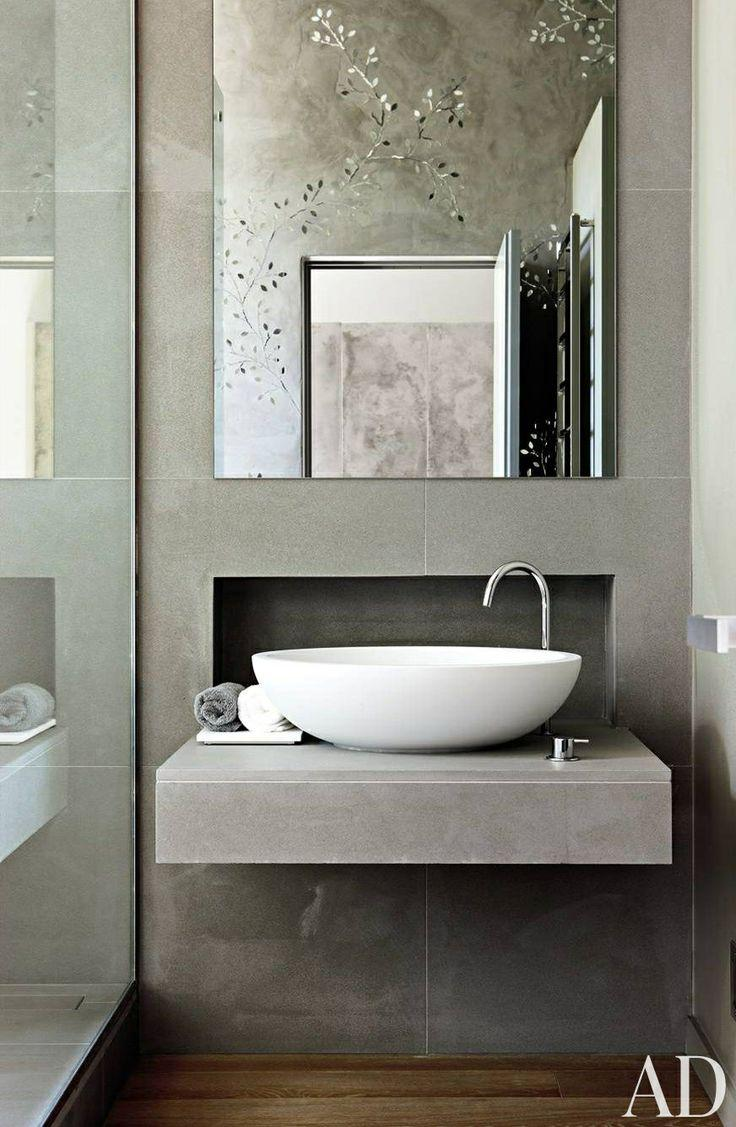 Bathroom Basin Bowls : Stylish bathroom basin bowl - with concrete countertop