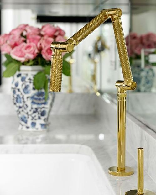 Stylish brass bathroom faucet - with flexible and creative design