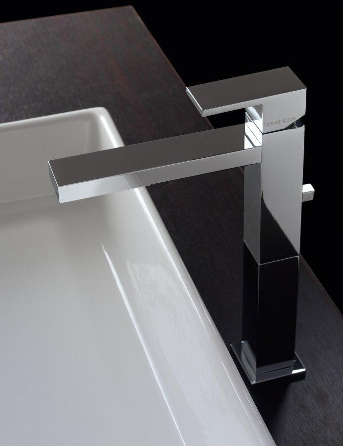 Stylish chrome bathroom faucet - with straigh and strict lines
