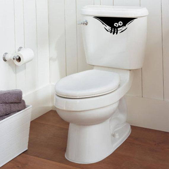 Toilet cisern decal - funny and urban design