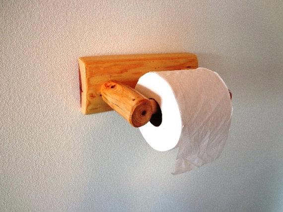 Toilet paper holder - made of wood
