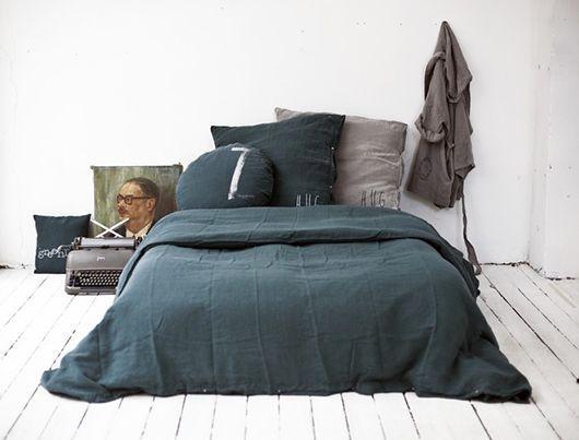 Vintage bedroom floor - and simple bed
