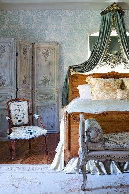 Vintage bedroom interior - with French touch