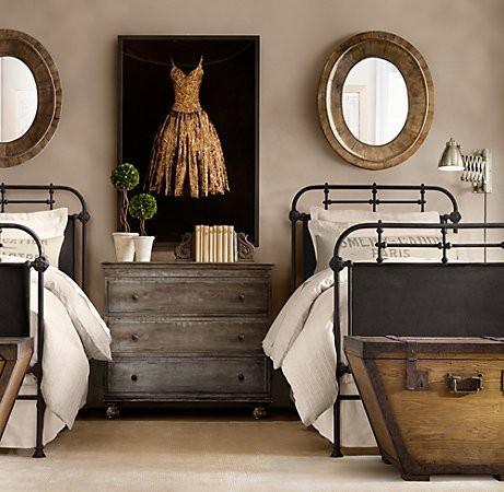 Vintage bedroom mirrors - with round design