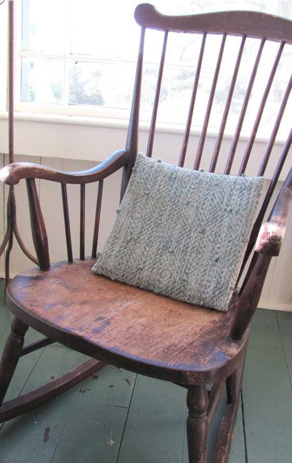 Vintage chair cushion - on old rocking chair