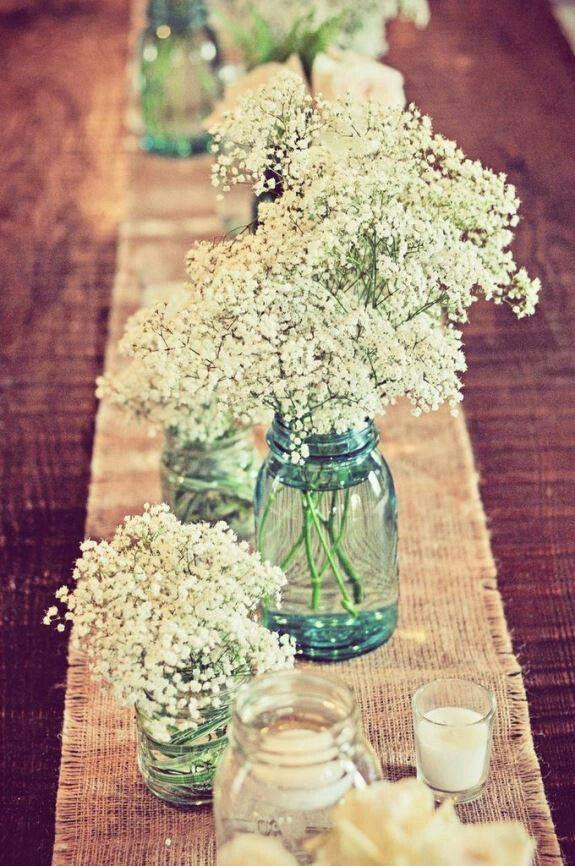 Wedding mason jars 2 - as table centerpieces