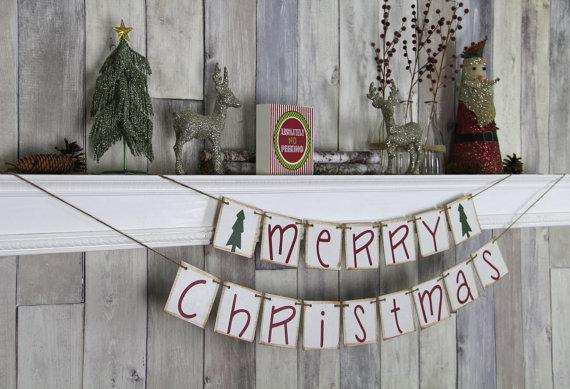 White Christmas garland - and small decorations