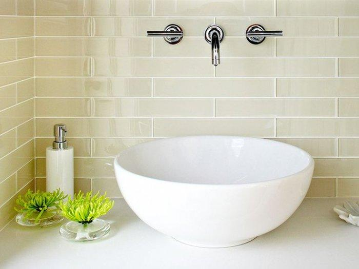 White bathroom basin bowl - with charming design