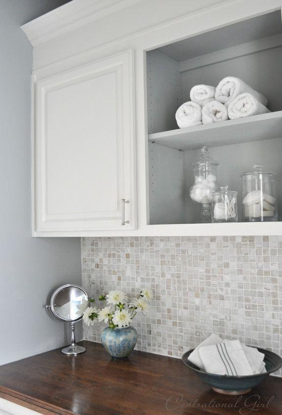 White laundry cabinets - for storing different stuff