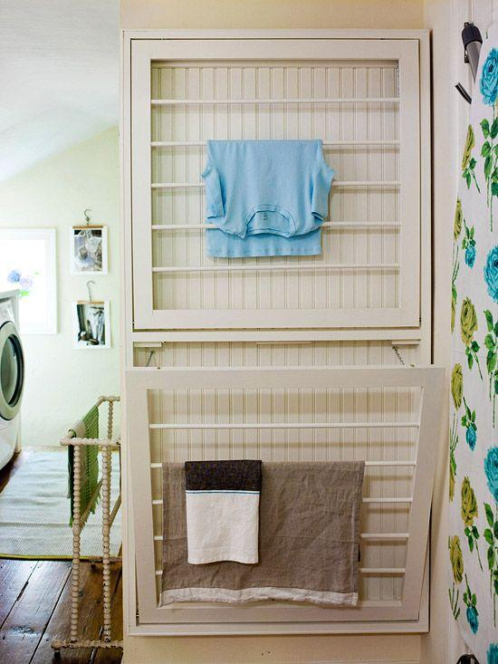 White laundry rack - for drying clothes