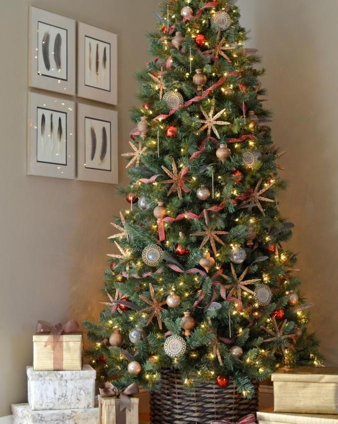 Wicker Christmas Tree Skirts For 24th December Founterior