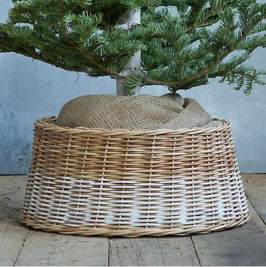 Wicker Christmas tree skirt 7 - in two colors