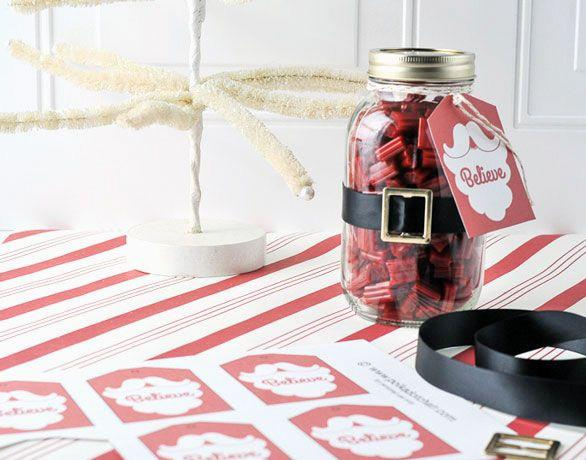 Wish Christmas jar - with _believe_ message