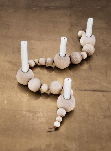 Wooden candleholders - in interesting shape