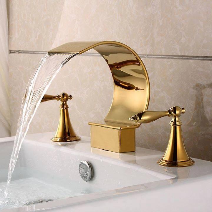 Goldern bathroom