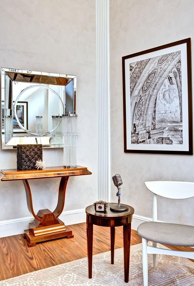 Art deco interior style - with wall art