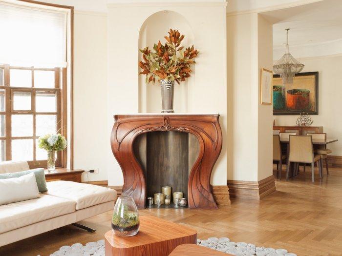 Art nouveau fireplace - with decorations