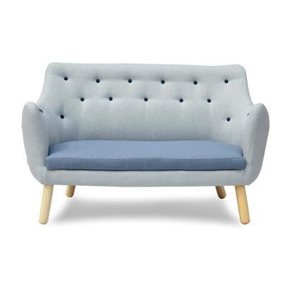 Blue grey modern sofa - with soft seat