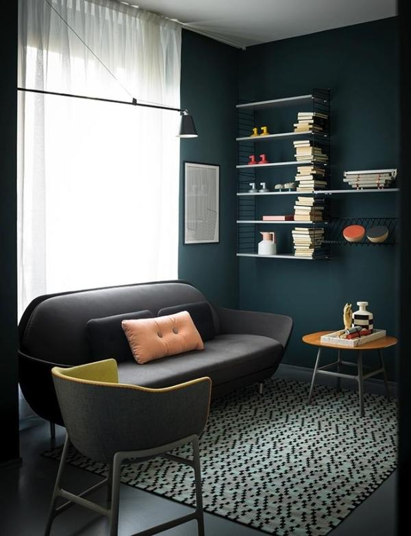 Dark modern sofa - for two persons