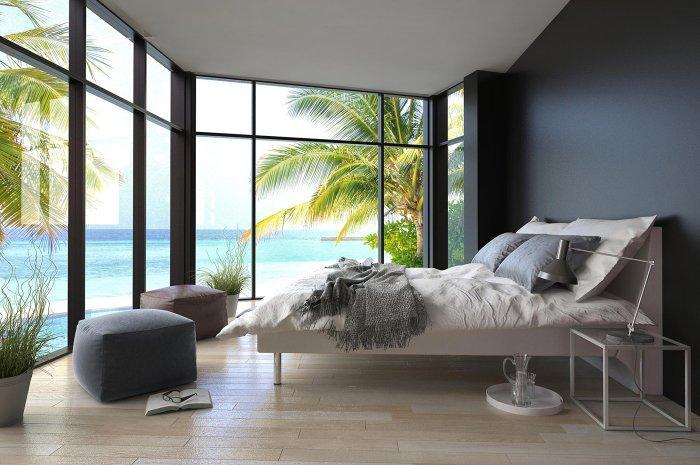 Eco design bedroom - with ocean views