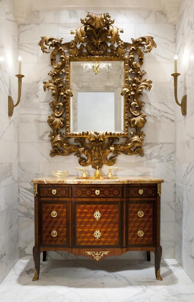 French empire vanity - with ornate mirror