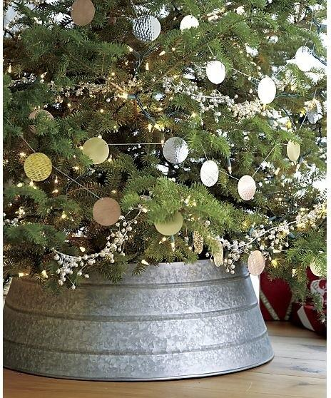galvanized tree collar - Christmas Tree Skirt Ideas