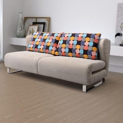 Grey modern sofa - with colorful pillows
