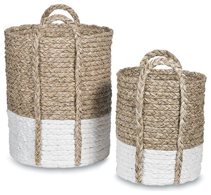 Lefko Laundry and Wastepaper Baskets, Set of 2