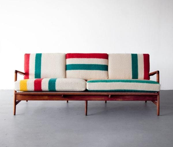 Mid-century Italian modern sofa - in typical colors
