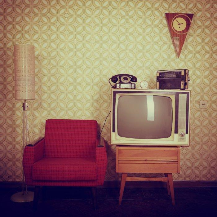 Retro room - with Tv set