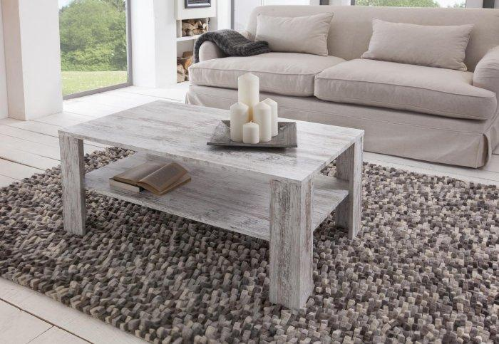 Rustic coffee table - inside a country house living room