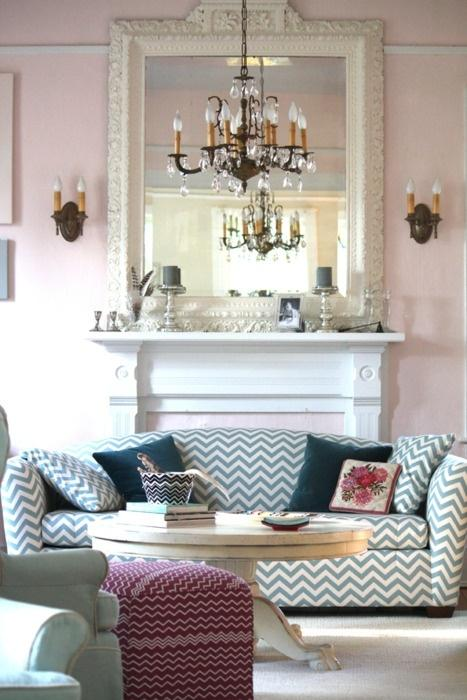 Scandinavian modern sofa - in luxurious living room