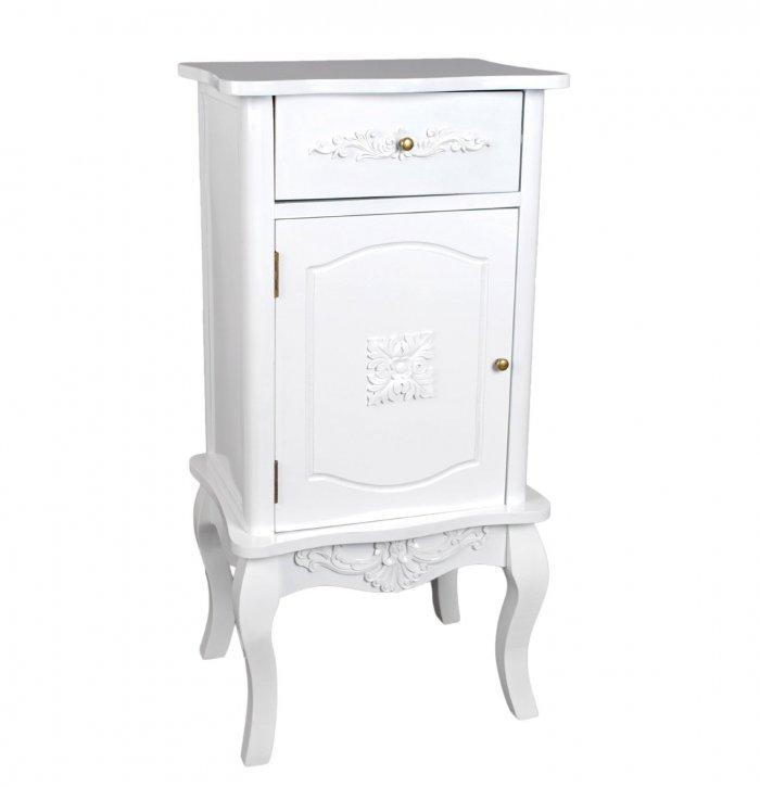 Shabby chic portmanteau - in white color