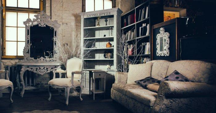 Vintage interior - of a living room