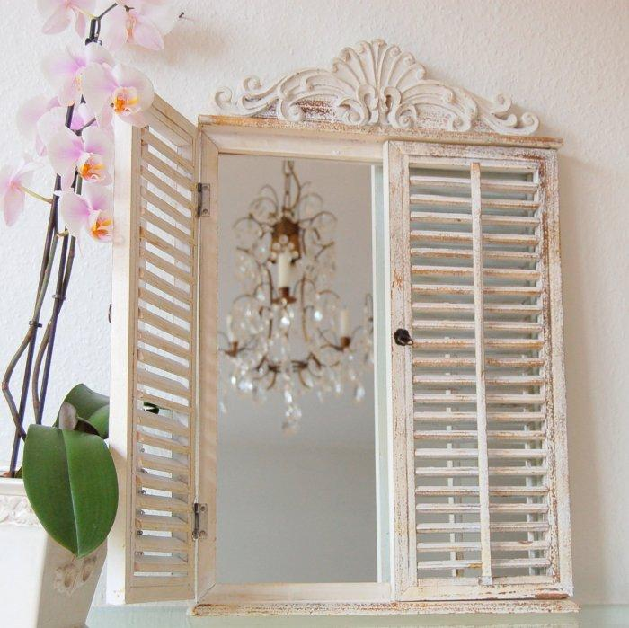 Vintage window frame - in white color