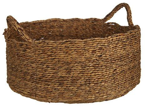 Water Hyacinth Shallow Basket