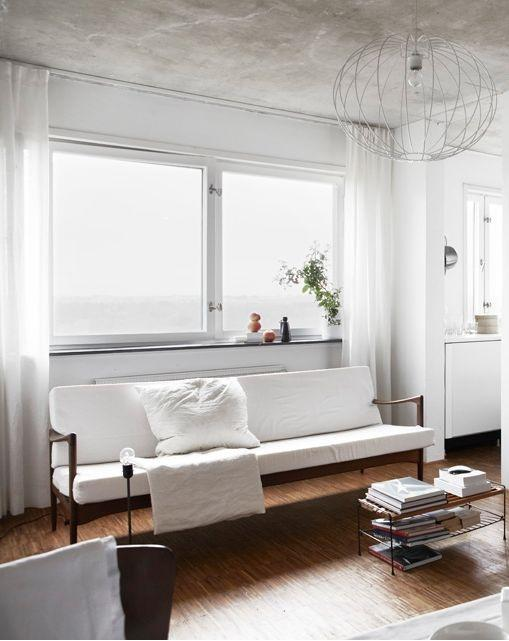 White modern sofa - with clean design