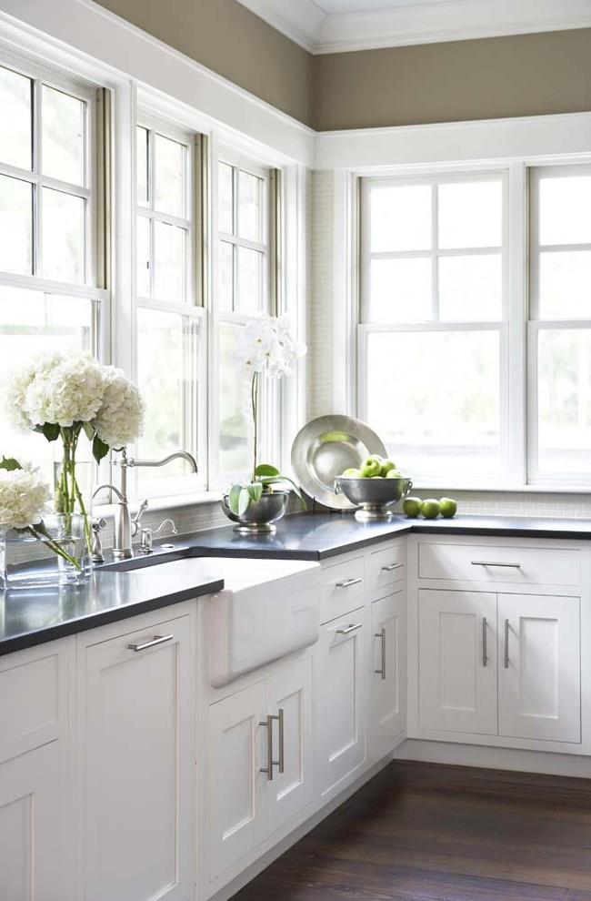 Absolute Black Granite Countertops - around the sink