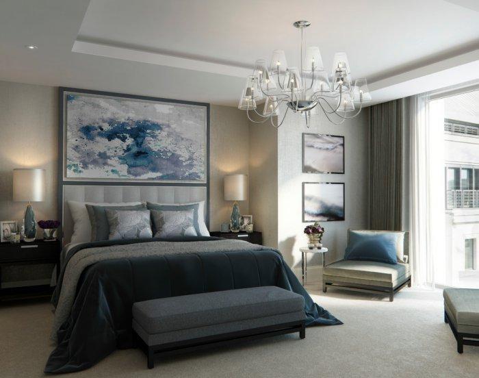 Abstract bedroom art - above the headboard
