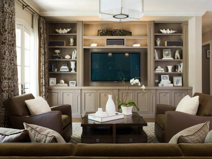 Den room and area design ideas founterior for Built ins living room ideas