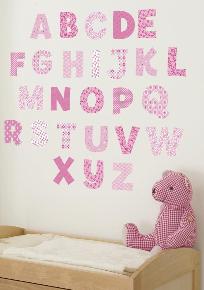 Baby shower alphabet - wall decals