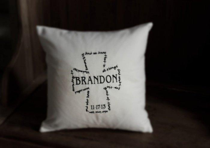Baby shower personalized pillow - with baby name on it