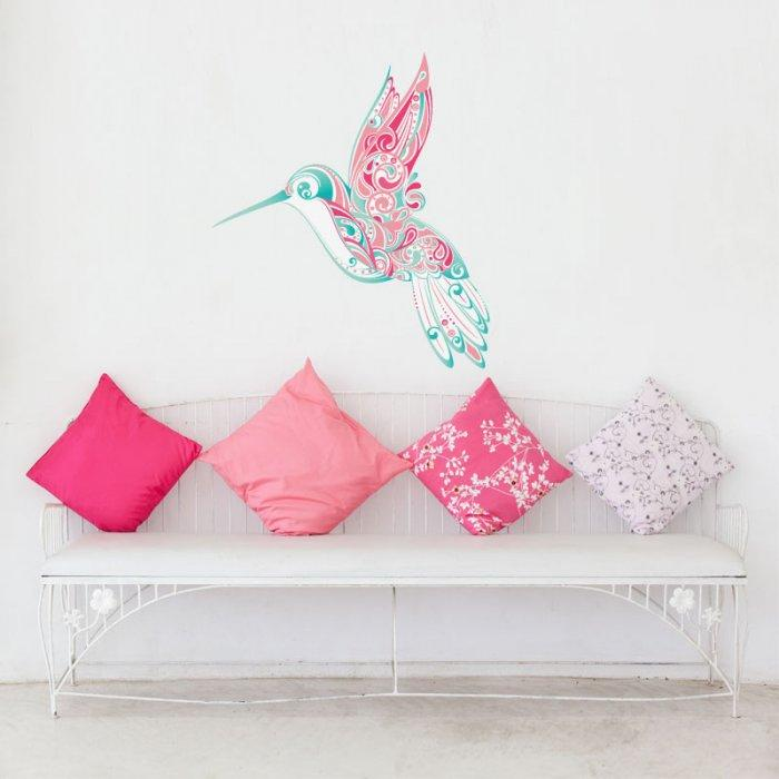 Baby shower wall bird - for girl's party