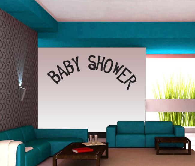 Baby shower wall writing - for home party